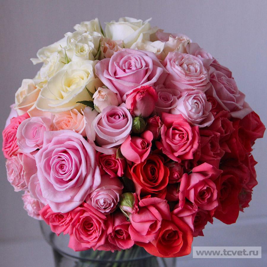 Розовый букет невесты купить