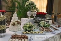 Примеры оформления сладкого стола. Фото 1