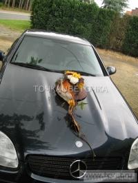 Украшение свадебного кортежа цветами. Фото 9