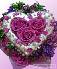 Букет для влюбленных. Прекрасный романтический букет