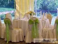 Ромашковая свадьба. Оформление стола для гостей