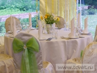 Ромашковая свадьба. Украшение гостевого стола