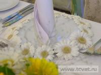 Ромашковая свадьба. Ажурный круг из ромашек