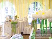 Ромашковая свадьба. Общий вид зала