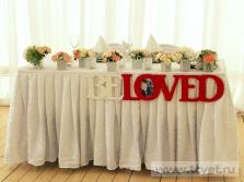 Украшение свадебного шатра в Парке Победы. Фото 9