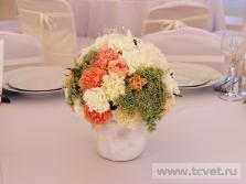 Украшение свадебного шатра в Парке Победы. Фото 13