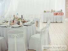 Украшение свадебного шатра в Парке Победы. Фото 30