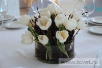 Зимняя свадьба с Белыми тюльпанами Кузьминки. Фото 40