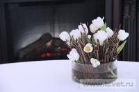Зимняя свадьба с Белыми тюльпанами Кузьминки. Фото 44