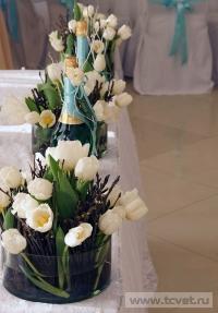 Зимняя свадьба с Белыми тюльпанами Кузьминки. Фото 49