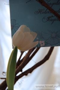 Зимняя свадьба с Белыми тюльпанами Кузьминки. Фото 54