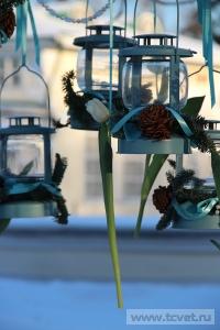 Зимняя свадьба с Белыми тюльпанами Кузьминки. Фото 63