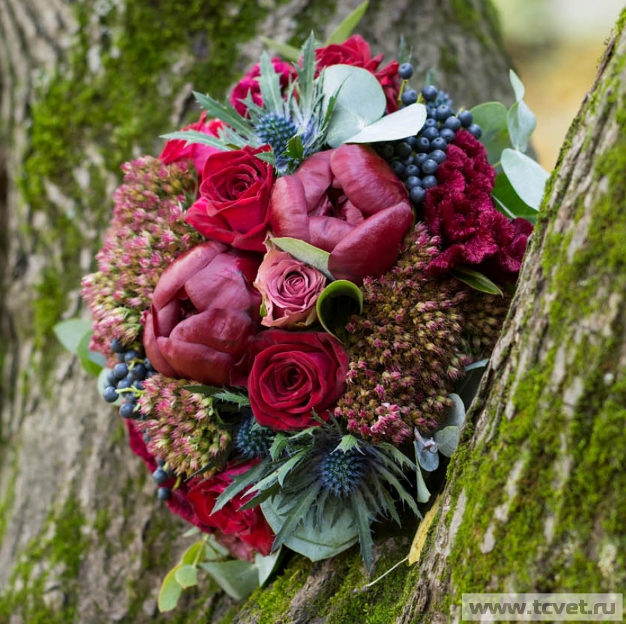 Букет невесты Глинтвейн