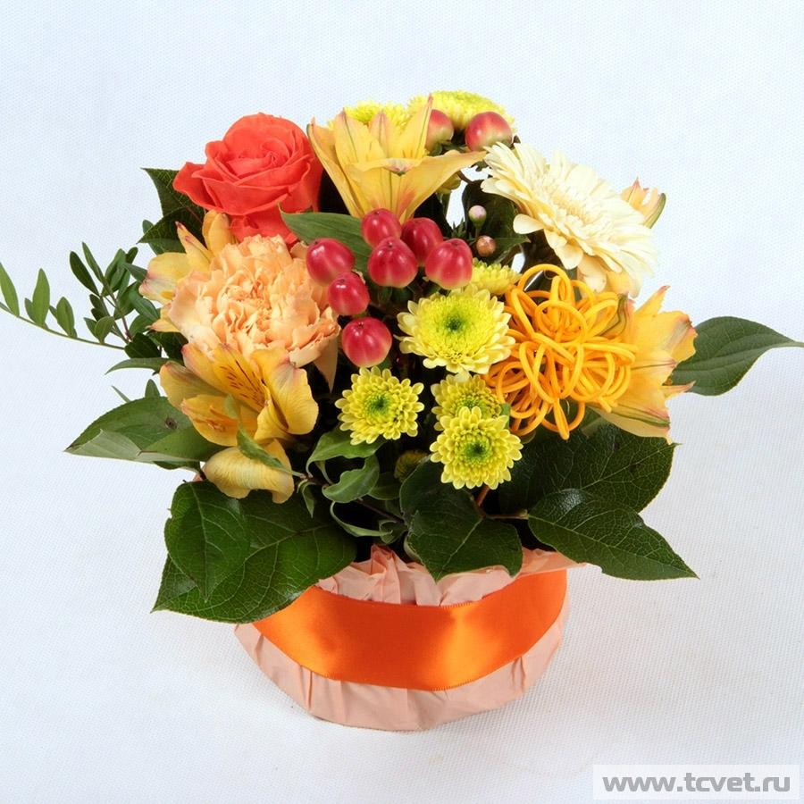 Улыбка весны желто-оранжевая