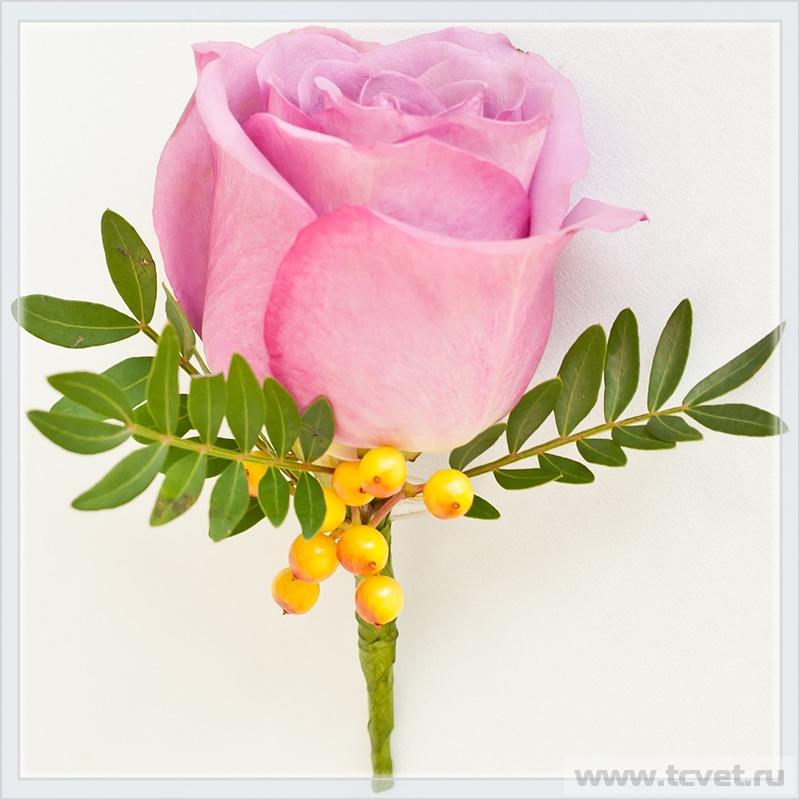 Бутоньерка жениха Pink