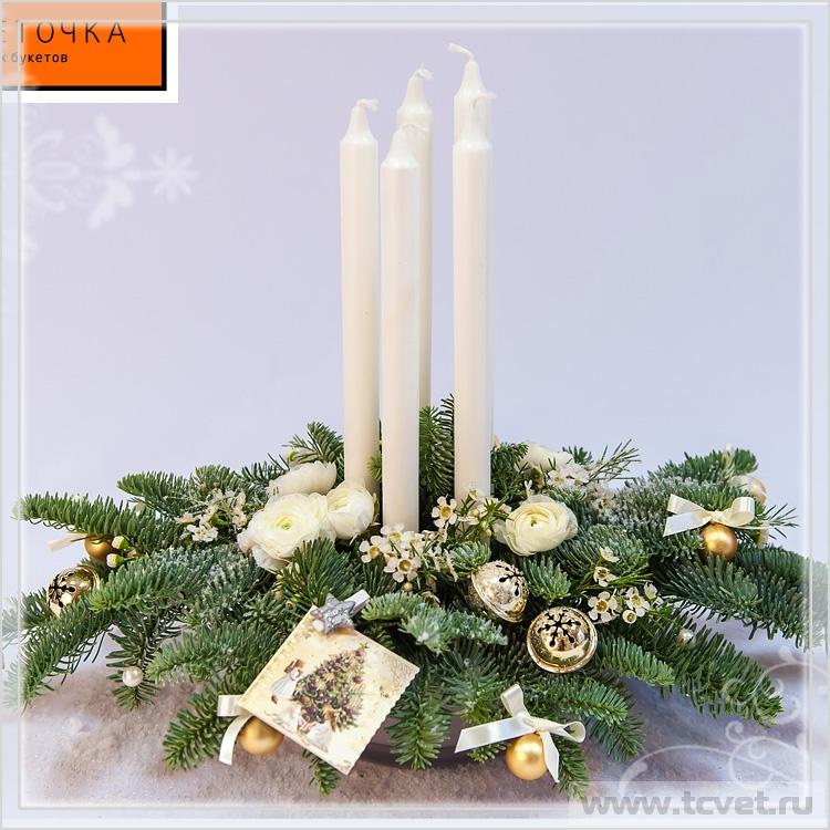 Настольная композиция со свечами