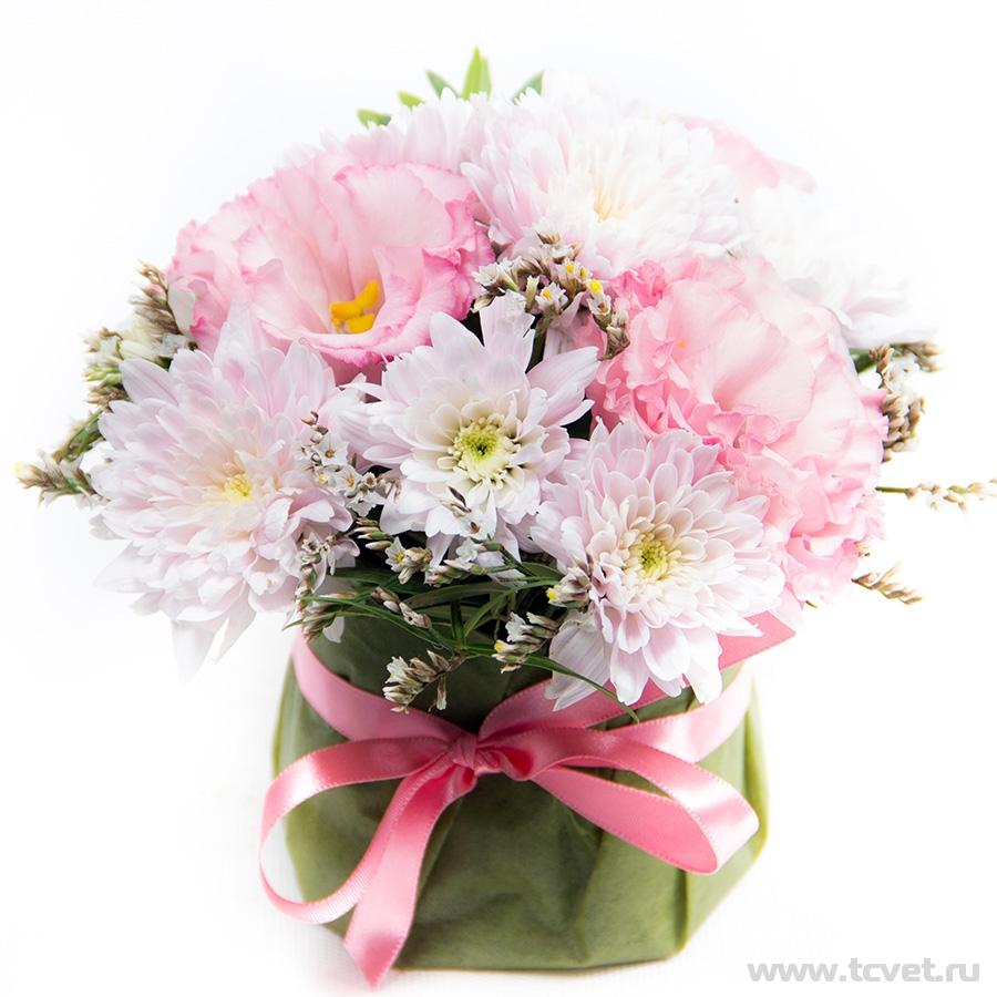 Первоклашка мини улыбка бело-розовая
