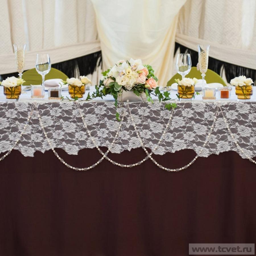 Украшение стола молодых Царское