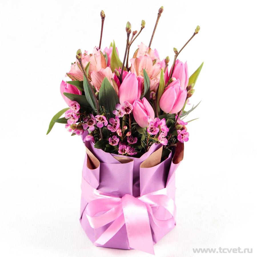 Весенняя улыбка розовая