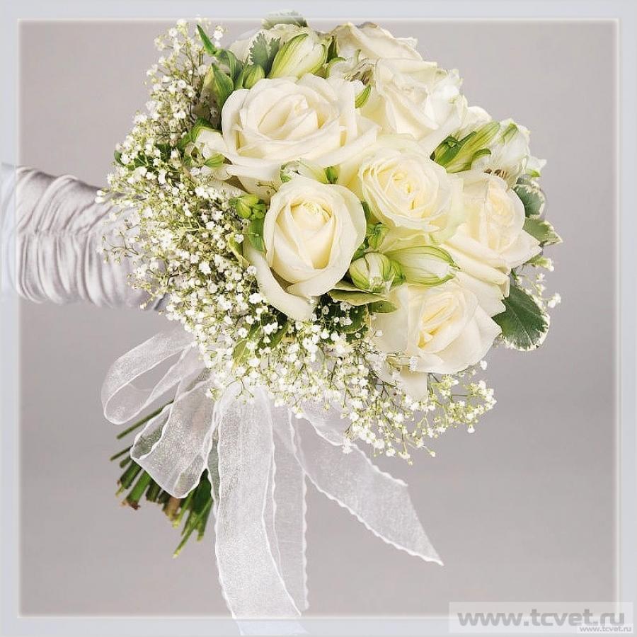 Букет невесты Белое золото