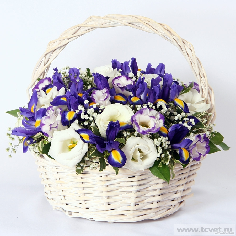 Корзина с цветами Лазурная
