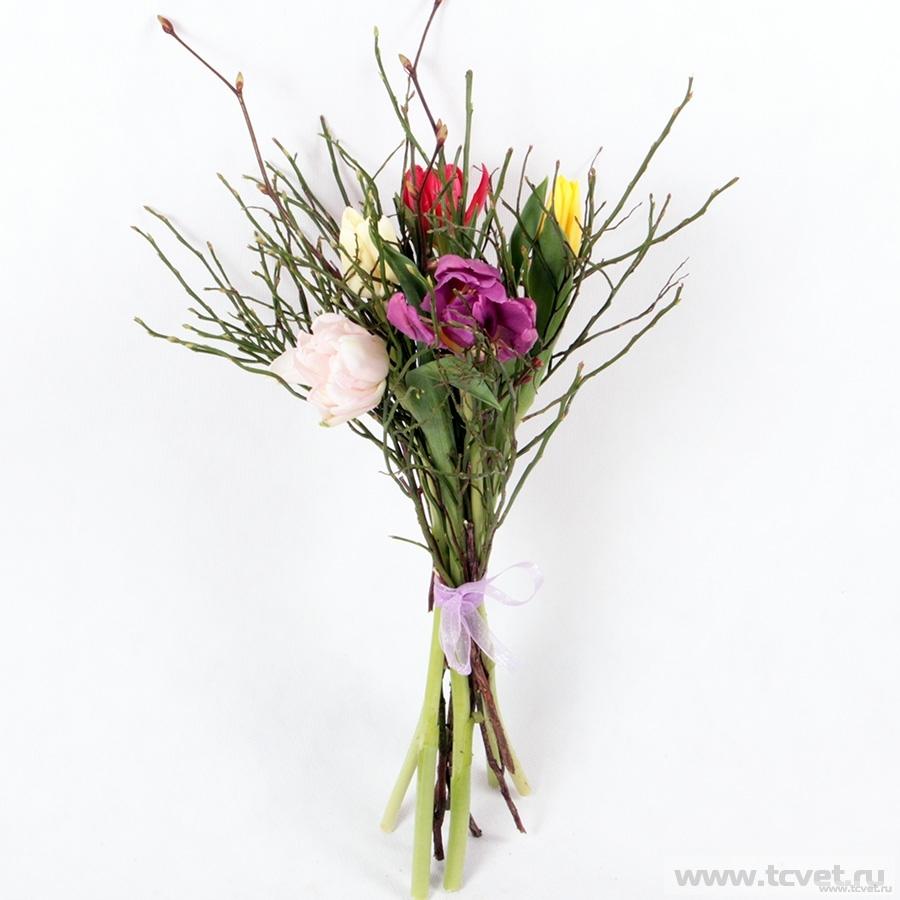 Тюльпаны микс с черничником S
