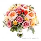 Абрикосовая фантазия букет невесты
