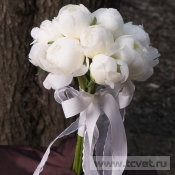Белый лебедь свадебный букет