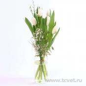 Букет Комплимент с тюльпанами