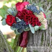 Букет невесты Глинтвейн с пионовидной розой