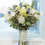 Букет невесты Голубой топаз