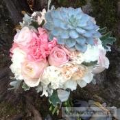 Свадебный букет Каменная роза