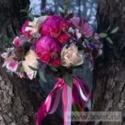 Букет невесты Малиновый