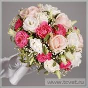 Букет невесты Розовый жемчуг