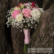Букет невесты Розовый жемчуг на своих стеблях