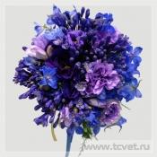 Букет невесты Синий бархат