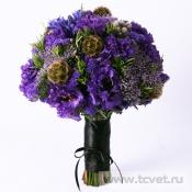 Букет невесты Виолетта с лизиантусом