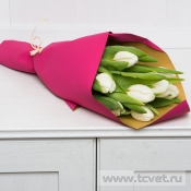 Букет Тюльпаны в крафте 9шт.