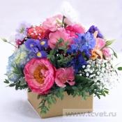 Коробочка на стол гостей с цветами Летнее настроение