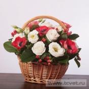 Цветы в корзинке Анемоны