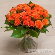 Монобукет из оранжевых роз