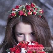 Ободок невесты Морозное утро