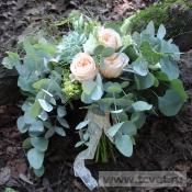Персиковая дымка букет невесты