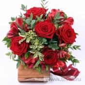 Рубиновый букет невесты