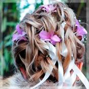 Свадебная заколка Орхидея дендробиум