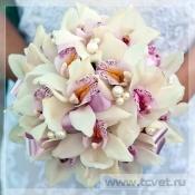 Свадебный букет Жемчужная орхидея