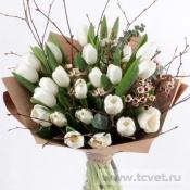 Тюльпаны в крафте XL