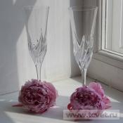 Украшение бокала Розовый пион