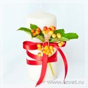 Украшение свечи Валентинни