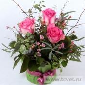 Улыбка весны с розами